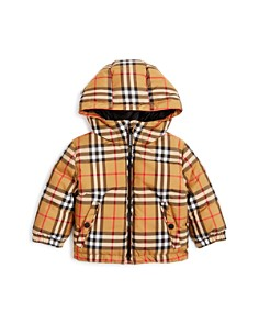 Burberry Unisex Rio Vintage Check Hooded Down Coat - Baby - Bloomingdale's_0