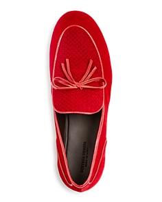 Bottega Veneta - Men's Embossed Velvet Apron Toe Loafers