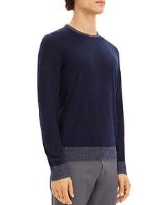 Theory - Rothley Color-Block Merino Wool Crewneck Sweater