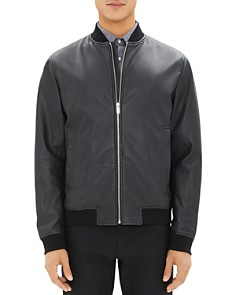 Theory - Brenton Leather Bomber Jacket - 100% Exclusive