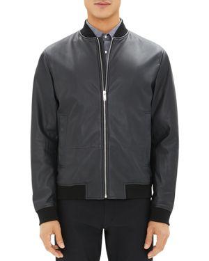 Theory Brenton Leather Bomber Jacket
