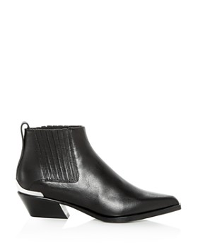rag & bone - Women's Westin Leather Western Low-Heel Booties