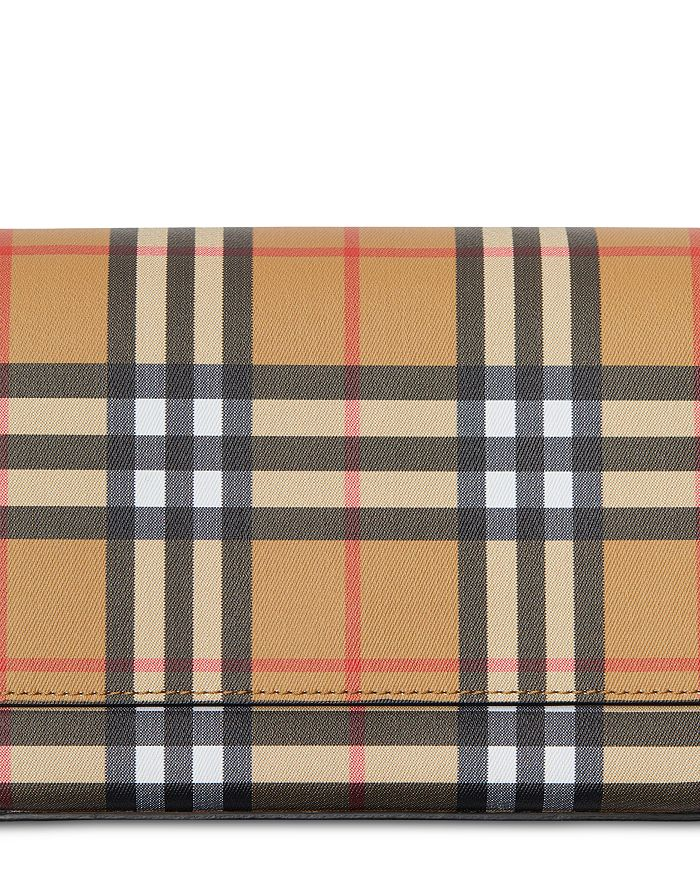 8127605ceb7a Burberry Vintage Check and Leather Wallet with Detachable Strap ...