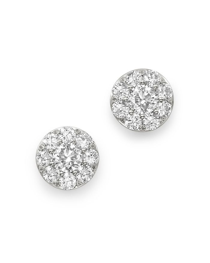 Bloomingdale's DIAMOND CIRCLE MEDIUM STUD EARRINGS IN 14K WHITE GOLD, 1.5 CT. T.W. - 100% EXCLUSIVE