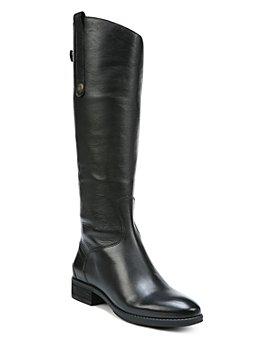 Sam Edelman - Women's Penny Round Toe Leather Low-Heel Riding Boots