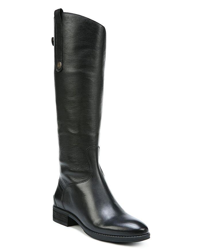 b6cb074d515ef5 Sam Edelman Women s Penny Round Toe Leather Low-Heel Riding Boots ...