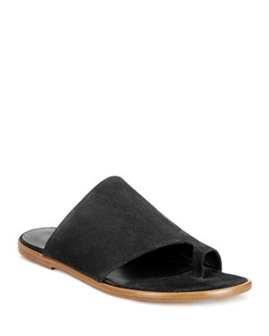 Edris Flat Sport Suede Slide Sandals, Coastal