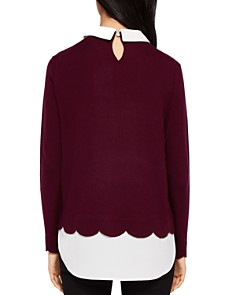 Ted Baker - Suzaine Embellished Layered-Look Sweater