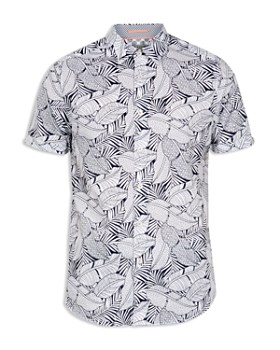 Ted Baker - Whittle Foliage Printed Regular Fit Shirt
