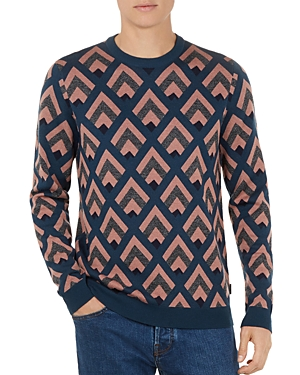 Ted Baker Roxwell Geo Crewneck Sweater