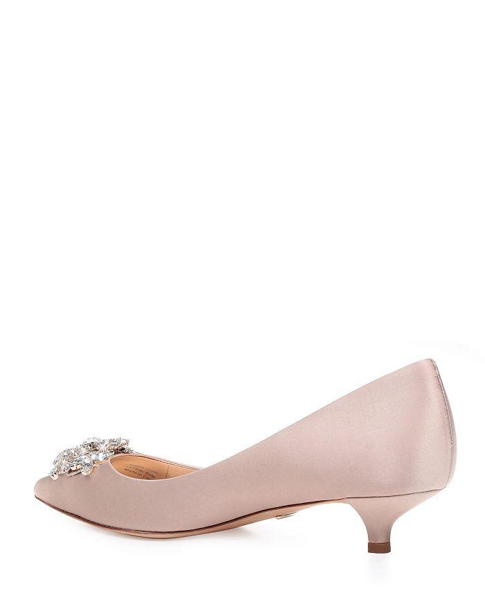 6beaed71103 Women's Vail Pointed Toe Satin Kitten Heel Pumps