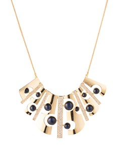 Trina Turk - Cutout Bib Necklace, 17""