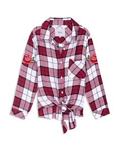 Rails Girls' Valerie Plaid Tie-Front Shirt with Patches - Little Kid, Big Kid - Bloomingdale's_0