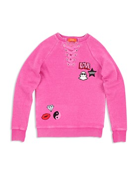 Butter - Girls' Fleece Lace-Up Sweatshirt - Little Kid, Big Kid