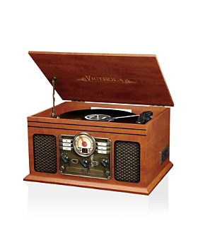 Innovative Technology - Victrola Wood 8-in-1 Nostalgic Bluetooth Record Player