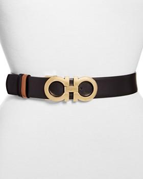 Salvatore Ferragamo - Gancini Reversible Leather Belt