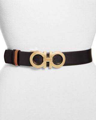 Gancini Reversible Leather Belt by Salvatore Ferragamo