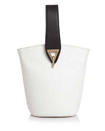 Street Level - Medium Color-Block Wristlet Bucket Bag