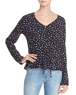 Rails Beaux Butterfly Print Top