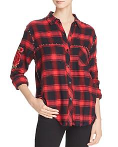 Rails - Teagan Embroidered Plaid Shirt