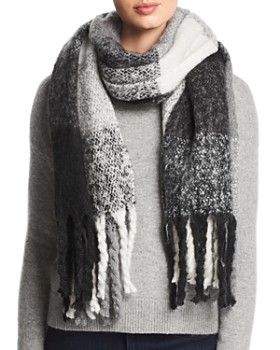 Echo - Lofty Plaid Muffler Scarf
