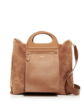 Max Mara - Small Reversible Suede & Faux-Shearling Tote