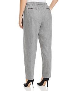 Lafayette 148 New York Plus - Fulton Metallic Pinstripe Pants