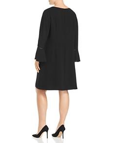 Lafayette 148 New York Plus - Jorie Slit Flare-Sleeve Dress