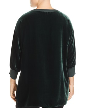 Lafayette 148 New York Plus - Joplin Velvet & Knit Top