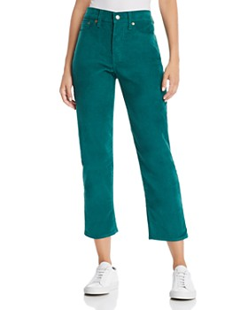 Levi's - Wedgie Straight Corduroy Jeans in Evergreen