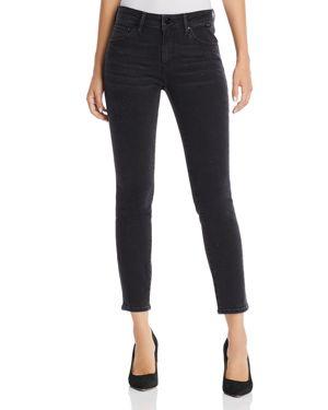 Adriana Ankle Shiny Jeans In Smoke Shine