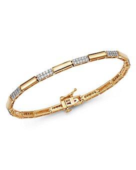Bloomingdale's - Diamond Link Bracelet in 14K Yellow Gold, 1.0 ct. t.w. - 100% Exclusive