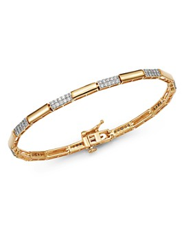 Bloomingdale's - Diamond Link Bracelet in 14K Yellow Gold, 1.0 ct. t.w. - 100% Exclusive