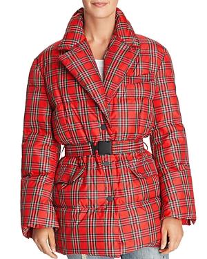 Sjyp Plaid Puffer Coat