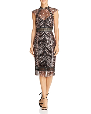 Saylor Open-Back Sequined Dress