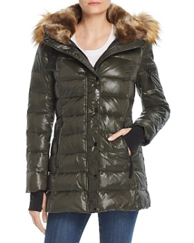 AQUA - Faux Fur-Trim Hooded Puffer Jacket - 100% Exclusive
