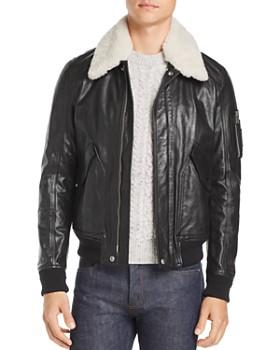 Belstaff - Arne Shearling-Trimmed Leather Jacket