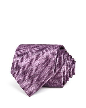 The Men's Store at Bloomingdale's Herringbone Solid Classic Tie
