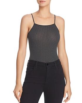 Little Black Bodysuit - Becca Dot-Print Bodysuit