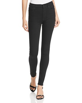 Hudson - Barbara High Rise Skinny Jeans in Black