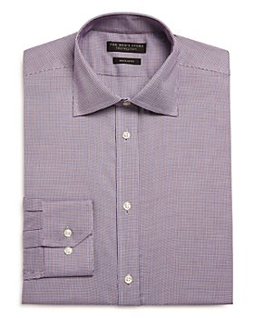 The Men's Store at Bloomingdale's - Micro Houndstooth Regular Fit Dress Shirt - 100% Exclusive