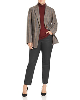 Lafayette 148 New York Plus - Heather Glen Plaid Blazer