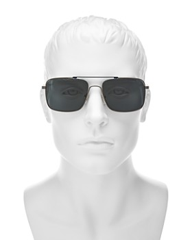 Salvatore Ferragamo - Men's Brow Bar Square Sunglasses, 58mm
