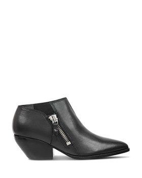 Sigerson Morrison - Women's Hannah Pointed Toe Western Leather Ankle Booties