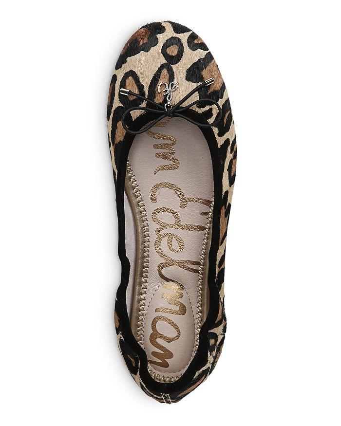 f47d80b5e Sam Edelman - Women s Felicia Round Toe Leopard-Print Calf Hair Ballet Flats
