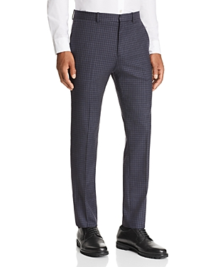 Theory Cottons MAYER SARTORIAL-CHECK SLIM FIT SUIT PANTS