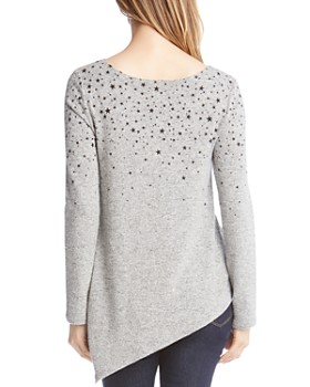 Karen Kane - Star Print Asymmetric Sweater