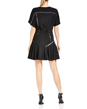 HALSTON HERITAGE - Short-Sleeve Tape-Detail Dress