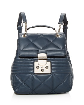 Furla - Fortuna Small Quilted Leather Backpack