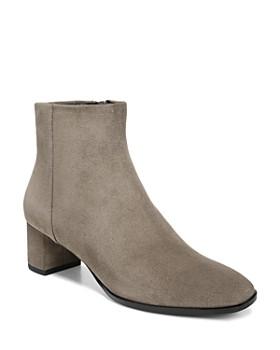 Via Spiga - Women's Vail Almond Toe Mid-Heel Booties